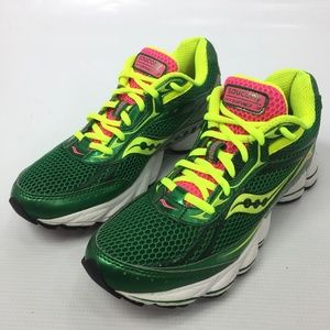 72474274 SAUCONY Hybrid 3 Green Running Sneakers 8.5